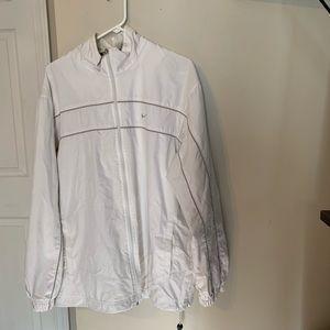 Nike White Runner Athletic Jacket